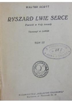 Ryszard Lwie serce , Tom III