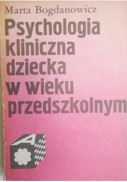 Psychologia kliniczna dziecka w wieku przedszkolnym