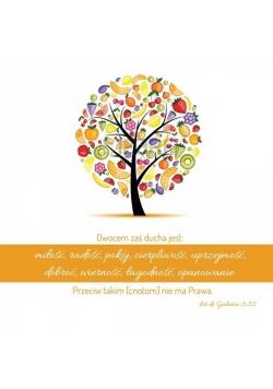 Podstawka korkowa - Owocem zaś Ducha są