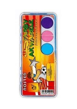 Farby akwarelowe 12 kolorów NOSTER