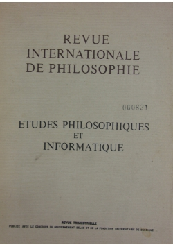 Revue internationale de philosophie,