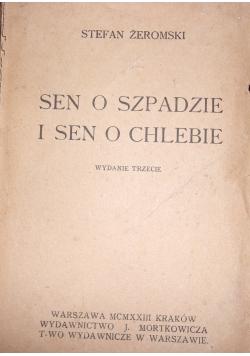 Sen o szpadzie i sen o chlebie, 1923 r.