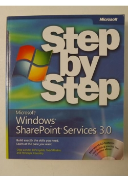 Step by Step Windows SharePoint Services 3.0