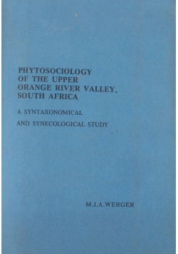 Phytosociology of theupper orange river Valley, south Africa