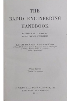 The radio engineering handbook, 1941 r.