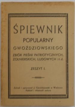 Śpiewnik popularny Gwoździowskiego, zeszyt 1