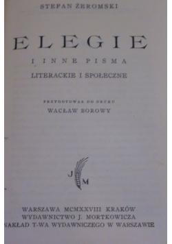 Elegie i inne pisma 1928 r.