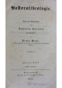 Baftoraltheologie, 1851 r.