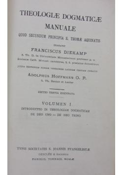 Theologiae Dogmaticae Manuale, 1949R.