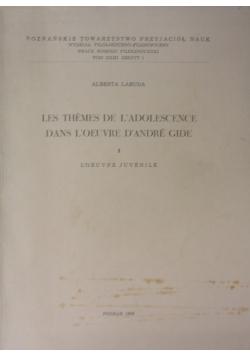 Les Themes De L'adolescence Dans L'oeuvre D'andré Gide