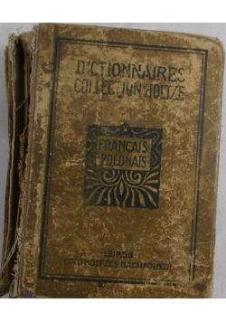 Słownik podręczny francusko- polski i polsko-francuski, 1919 r.