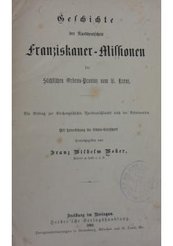 Beschichte der Rorddentischen franziskaner-missionenj, 1880r.