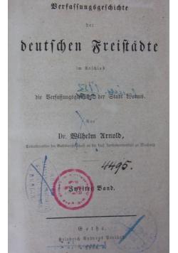 Verfassungsgeschichte der deutschen Freistadte, 1854 r.