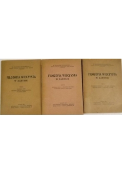 Filozofia wieczysta w zarysie, tom I-III, 1947 r.