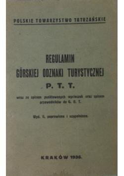 Regulamin górskiej odznaki turystycznej, 1936 r.