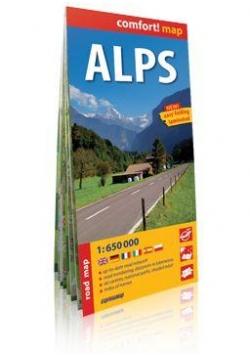 Comfort!map Alpy (Alps), 1:650 000 mapa