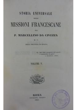Storia delle missioni francescane, volume V.,1857r.