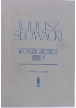 Juliusz Słowacki w stopięćdziesięciolecie urodzin