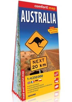 Australia comfort! map laminowana mapa samochodowo-turystyczna 1:4 250 000