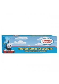 Farby plakatowe Tomek i przyjaciele 12 kolorów