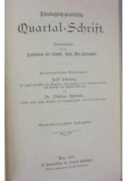 Theologich=praktische, 1888r.