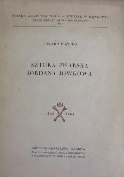 Sztuka pisarska Jordana Jowkowa