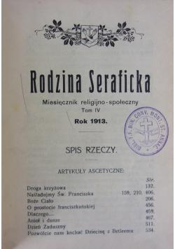 Rodzina Seraficka. Miesięcznik religijno-społeczny,tom 4,  1913r.