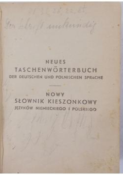 Neues Taschenworterbuch der deutschen  und polnischen sprache