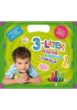 3-latek uczy się koloruje i nakleja