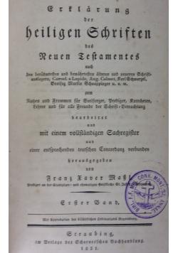 Erklarung der Heiligen Schriften des Neuen Testamentes, 1846r.