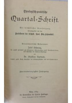Theologisch praktische Quartalschrift, 1889r.
