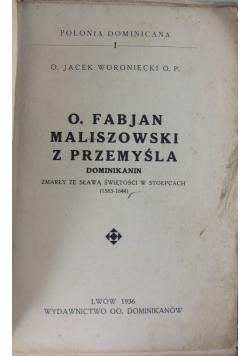 O.Fabjan Maliszowski z Przemyśla,1936r.