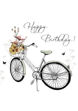 Karnet Swarovski kwadrat CL1212 Urodziny rower