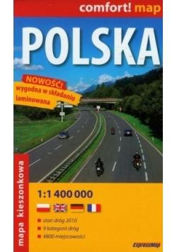 Polska mapa samochodowa 2016 1:1 000 000