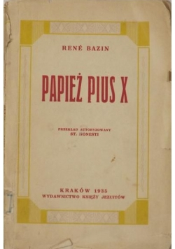 Papież Pius X, 1935 r.