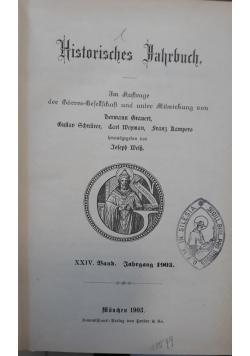 Historisches Hahrbuch, 1903 r.