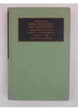 Research in Rural Sociology and Development, Tom II