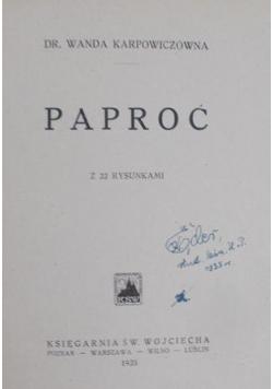 Paproć , 1935 r.