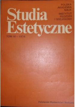 Studia Estetyczne, tom XI - 1974