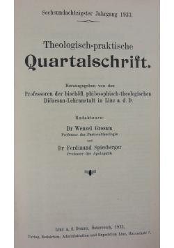 Theologisch-praktische Quartalschrift, 1933r.