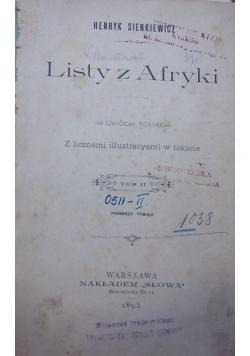 Listy z Afryki, 1893 r.