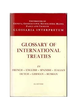 Glossary of international treaties