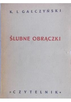 Ślubne obrączki 1949r.