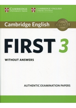 Cambridge English First 3 without answers
