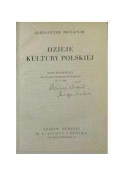 Dzieje kultury polskiej Tom I , 1930 r.