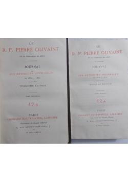 Le  R.P. Pierre Olivaint, 1865 r.  Tom I, II
