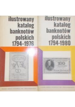 Ilustrowany katalog banknotów polskich, zestaw 2 książek