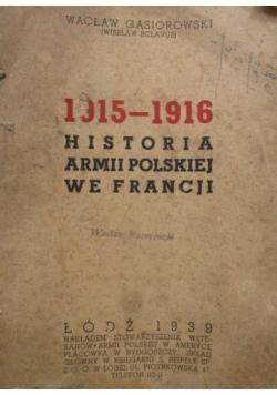1915-1916 Historia Armii Polskiej we Francji, 1939 r.