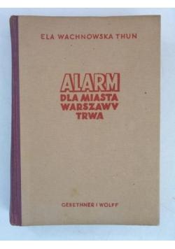 Alarm dla miasta Warszawy trwa, 1946 r.