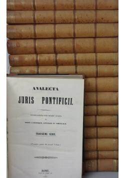 Analecta Juris Pontificii, zestaw 15 książek, ok.  1860r.